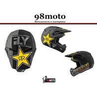 Шлем (кроссовый) FLY RACING KINETIC ROCKSTAR ECE серый/черный/желтый матовый (2020) 8900