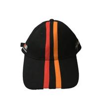 Кепка Rally Art, черная, красная и оранжевая полоса 1000