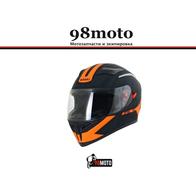 Шлем (интеграл) Ataki JK316 Route черный/оранжевый матовый 4700