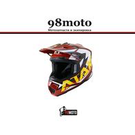Шлем (кроссовый) Ataki JK801 Rampage коричневый/желтый глянцевый 4500