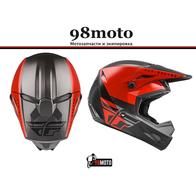 Шлем (кроссовый) FLY RACING KINETIC STRAIGHT EDGE красный/черный/серый (2021) 8500