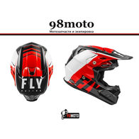 Шлем (кроссовый) FLY RACING TOXIN TRANSFER красный/черный/белый (2021) 10500