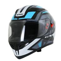 Шлем (интеграл) Ataki JK316 Route серый/голубой глянцевый 4200