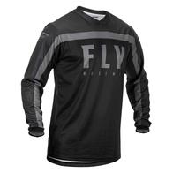 Футболка для мотокросса FLY RACING F-16 чёрная/серая (2020) 2500