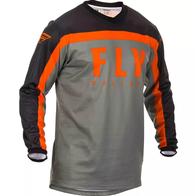 Футболка для мотокросса FLY RACING F-16 серая/чёрная/оранжевая (2020) 2500