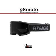 Очки для мотокросса FLY RACING ZONE (2021) чёрные/серебристые, тонированные 3300