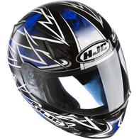 Шлем HJC CS-14, интеграл черный с белой полосой L 5000