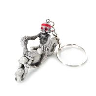 Брелок на ключи скелет на мотоцикле, резиновый. 300