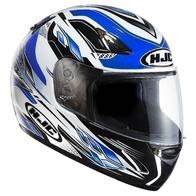 Шлем HJC, интеграл ,белый с синей полосой M 5000