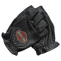 Мотоперчатки Harley Davidson без пальцев кожаные, M 2400