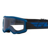 Очки для мотокросса FLY RACING FOCUS (2021) синие, прозрачные 2200