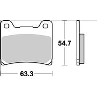 Арт 0007. Задние тормозные колодки, Yamaha FJ/FZR/FZX/XJR/XJ/TDM/FZX 1000
