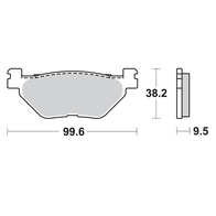 Арт 0040. Задние тормозные колодки FJR, TDM, XT, XV, XVS. 1000