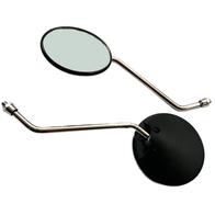 Зеркала заднего вида №02 пластик черное круглое Альфа М10 800