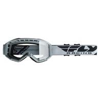 Очки для мотокросса FLY RACING FOCUS (2019) белые, прозрачные 2500