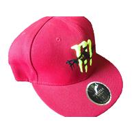 Кепка Monster 7, красная, прямой козырек 1000