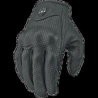 Мотоперчатки icon stealth (Кожаные, перфорир) 2500