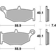 Арт 0014. Задние тормозные колодки, Suzuki GSX, GSX-R (Trofeo 319) 1000