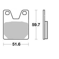 Арт 0020. Задние тормозные колодки Yamaha R1. 1000