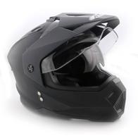 Шлем мотард Ataki FF802 Solid, черный матовый 0