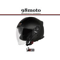 Шлем (открытый со стеклом) Origine Palio Solid черный матовый 6000