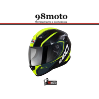 Шлем SHIRO SH881 Motegi Yellow Fluor 5800