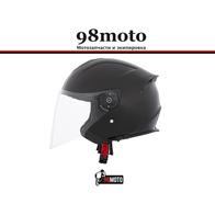Шлем (открытый со стеклом) Ataki JK526 Solid черный глянцевый 3900