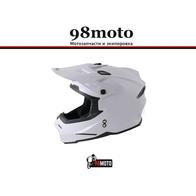 Шлем (кроссовый) Ataki JK801 Solid белый глянцевый 4500