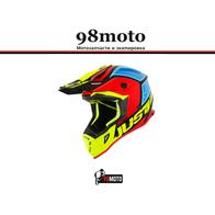 Шлем (кроссовый) JUST1 J38 BLADE желтый/красный/синий глянцевый 7500