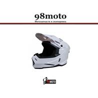 Шлем (кроссовый) Ataki MX801 Solid белый глянцевый 4500