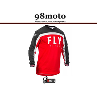 Джерси для мотокросса FLY RACING F-16 красная/чёрная/белая (2020) 2500