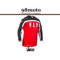 Футболка для мотокросса FLY RACING F-16 красная/чёрная/белая (2020) 2500