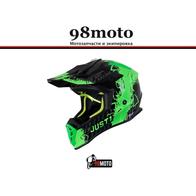 Шлем (кроссовый) JUST1 J38 MASK Hi-Vis зеленый/серый/черный глянцевый (2021) 8000