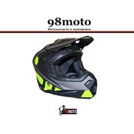 Шлем кроссовый Ataki MX801 Strike Hi-Vis желтый/черный матовый 4500
