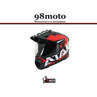 Шлем (мотард) Ataki JK802 Rampage красный/серый матовый 5500