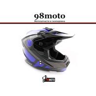 Шлем кроссовый Ataki MX801 Strike синий/черный глянцевый 4500