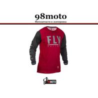 Футболка для мотокросса FLY RACING PATROL бордовая/черная (2020) 2900