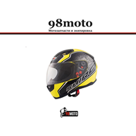 Шлем SHIRO SH881 Byte Yellow Fluor 5800