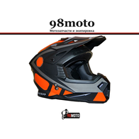 Шлем кроссовый Ataki MX801 Strike красный/черный глянцевый 4500