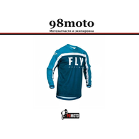 Джерси для мотокросса FLY RACING F-16 синяя/голубая/белая (2020) 2500
