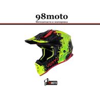 Шлем (кроссовый) JUST1 J38 MASK Hi-Vis желтый/красный/черный глянцевый (2021) 8000