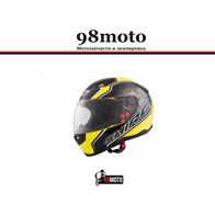 Шлем SHIRO SH881 Byte Yellow Fluor 5800