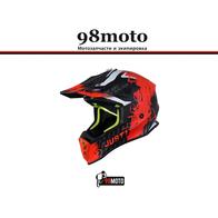 Шлем (кроссовый) JUST1 J38 MASK Hi-Vis оранжевый/серый/черный матовый (2021) 8000
