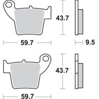 Арт 0033. Тормозные колодки зад CR, CRE, CRF, CRM, F, RME 1000