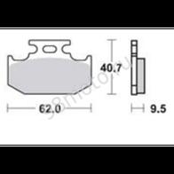 Арт 0006. Задние тормозные колодки Kawasaki KLX, KDX. 1000