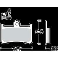 Арт 0030. Передние тормозные колодки (комплект на 1 суппорт 2пары) Yamaha FJR1300 c 2006 1500