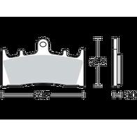 Арт 0028. Передние тормозные колодки ZRX400, ZZR400 Hayabusa 1300 99 - after. 1000