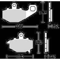 Арт 0016. Задние тормозные колодки Kawasaki ZX/ZZR/ER/Z/GPZ. (Trofeo 269, LMP287, FDB2012) 1000