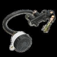 Задний тормозной цилиндр (черный) круглый бачок. Надпись Nissin 1900
