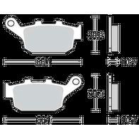 Арт 0003. Задние тормозные колодки, DL SV CBR 750 CB400 1000